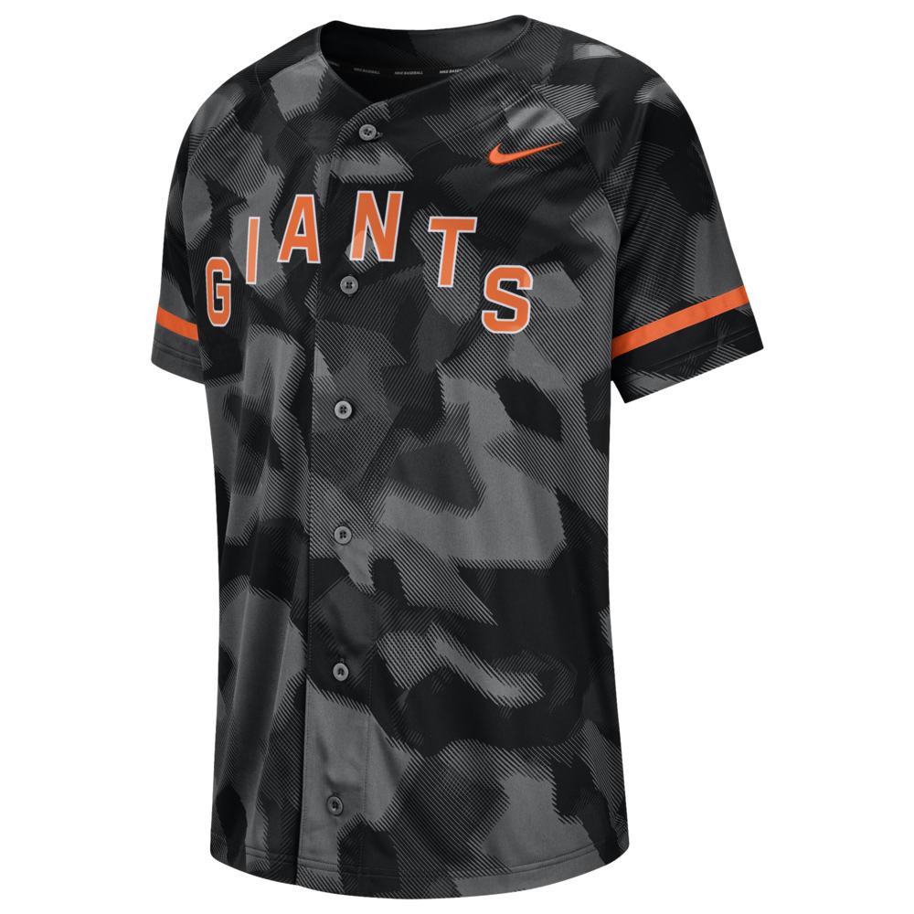 ナイキ Nike メンズ トップス【MLB Full Button Jersey】MLB San Francisco Giants Black Camo
