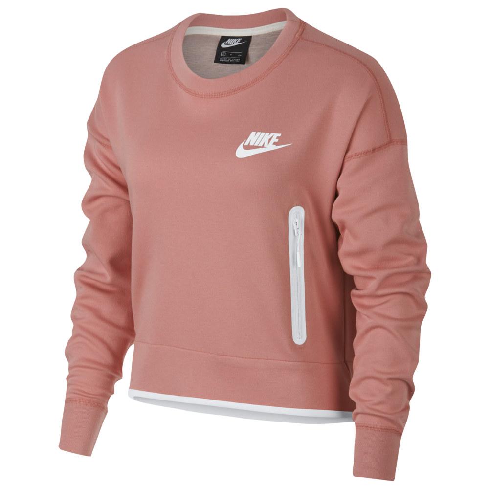 ナイキ Nike レディース トップス フリース【Tech Fleece Crew】Rust Pink/White