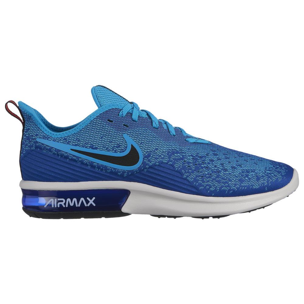 ナイキ Nike メンズ ランニング・ウォーキング シューズ・靴【Air Max Sequent 4】Indigo Force/Black/Light Blue Fury/Habanero Red