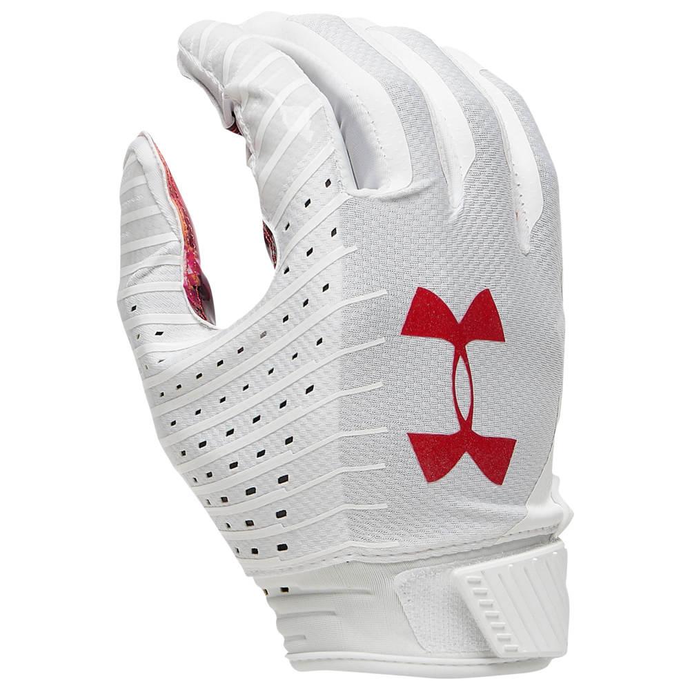 アンダーアーマー Under Armour メンズ アメリカンフットボール グローブ【Spotlight LE NFL Receiver Glove】White/Red