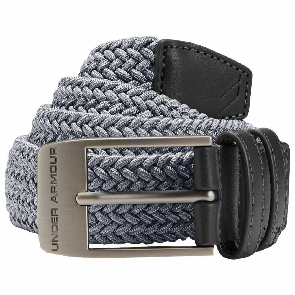 アンダーアーマー Under Armour メンズ ゴルフ【Braided 2.0 Golf Belt】Zinc Gray/Charcoal