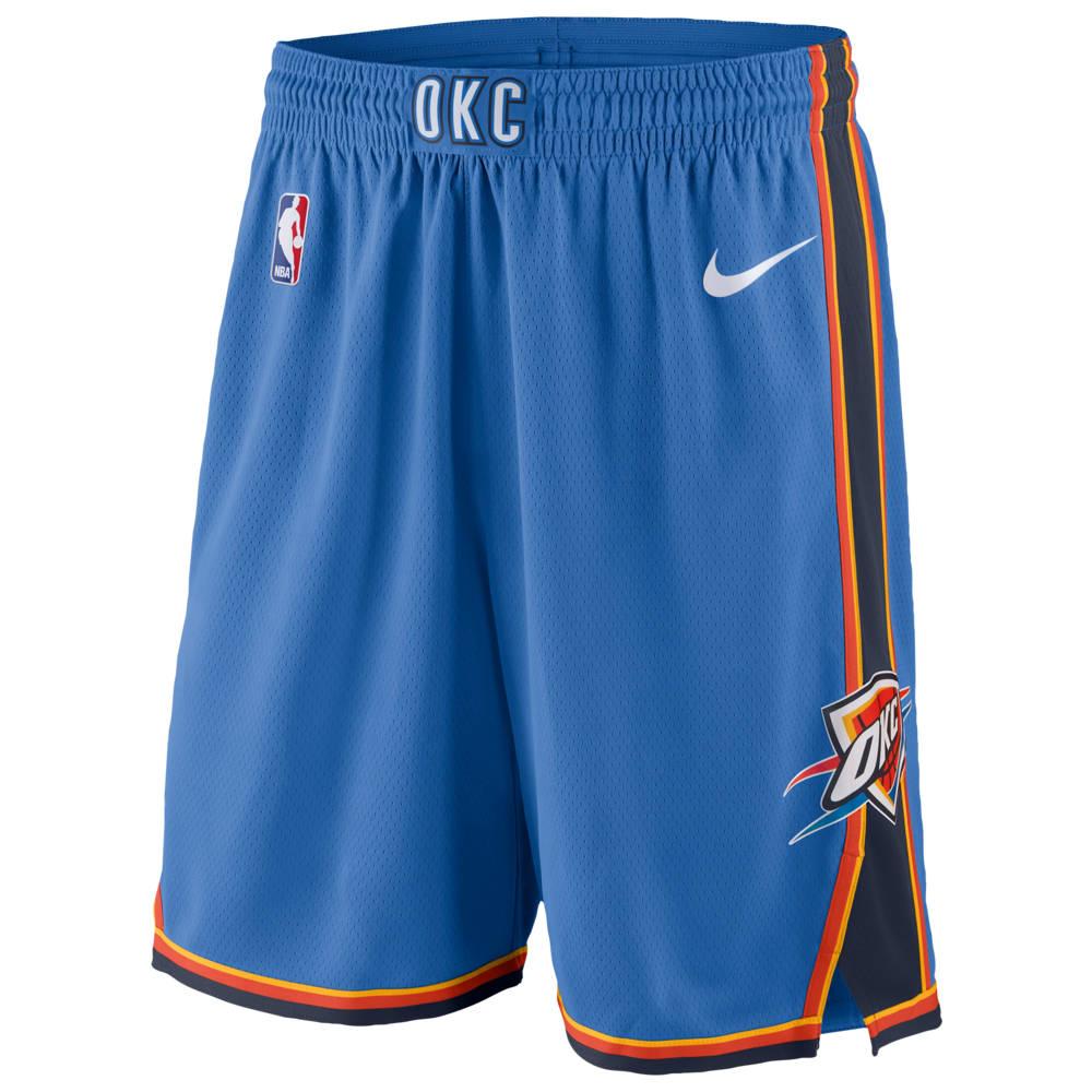 ナイキ Nike メンズ バスケットボール ボトムス・パンツ【NBA Swingman Shorts】NBA Oklahoma City Thunder Blue