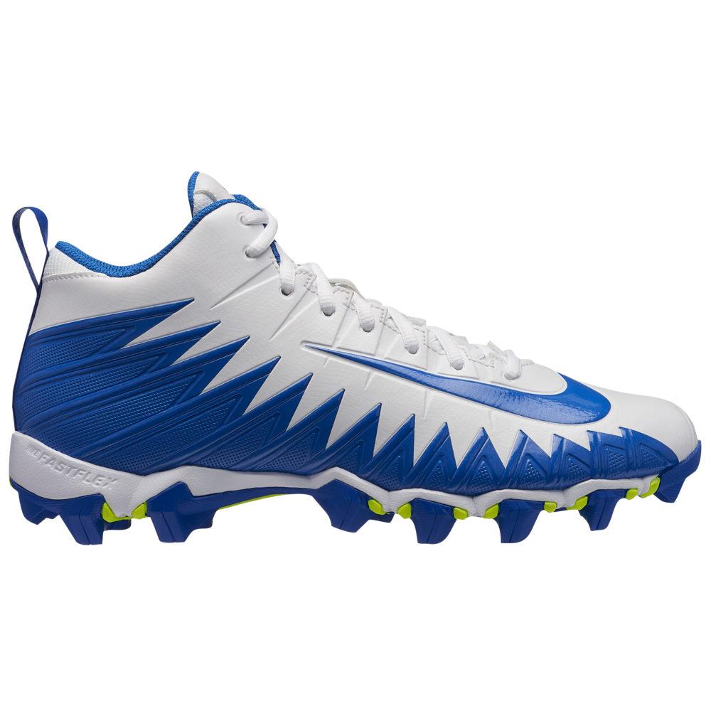 ナイキ Nike メンズ アメリカンフットボール シューズ・靴【Alpha Menace Shark】White/Game Royal
