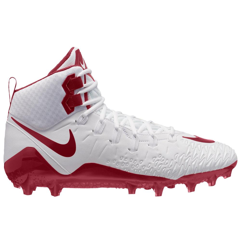 ナイキ Nike メンズ アメリカンフットボール シューズ・靴【Force Savage Pro】White/Team Crimson/Team Crimson