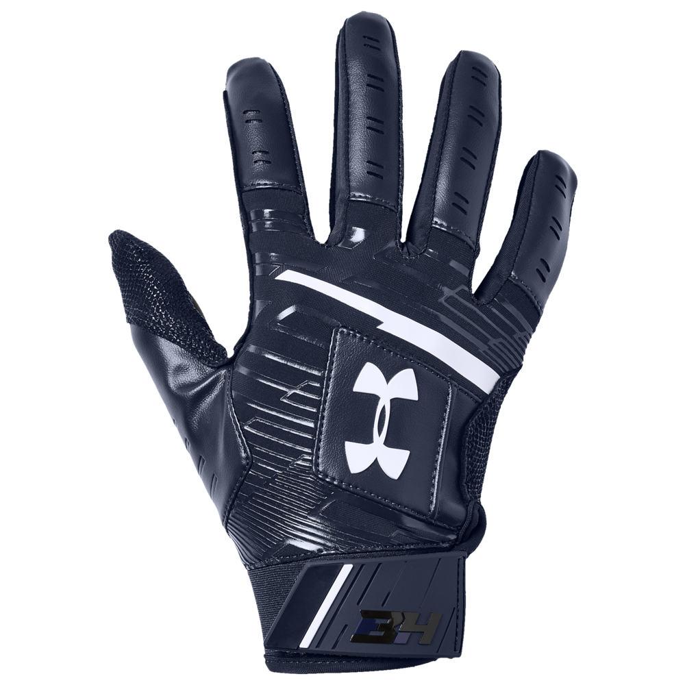アンダーアーマー Under Armour メンズ 野球 グローブ【Harper Hustle 18 Batting Gloves】Midnight Navy/Midnight Navy/White