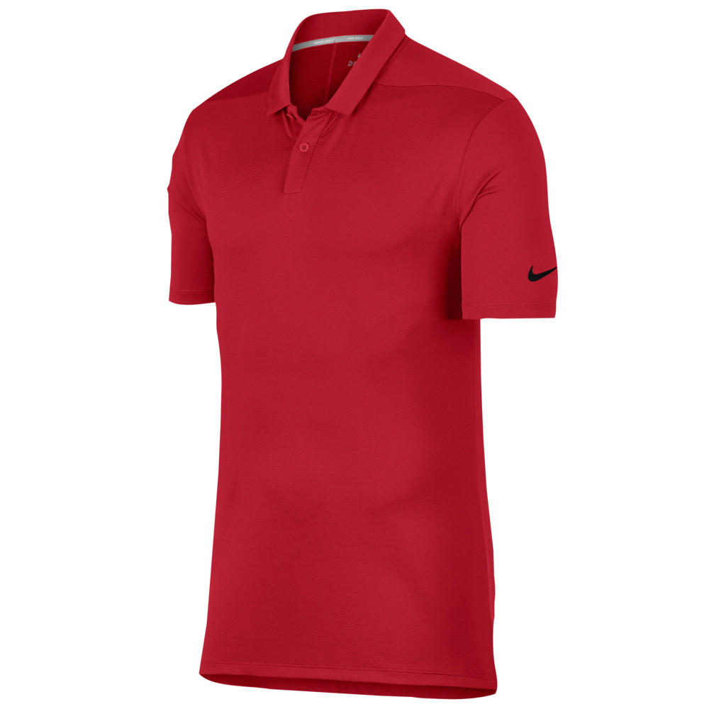 ナイキ Nike メンズ ゴルフ トップス【Breathe Golf Polo Texture OLC】University Red/Silver