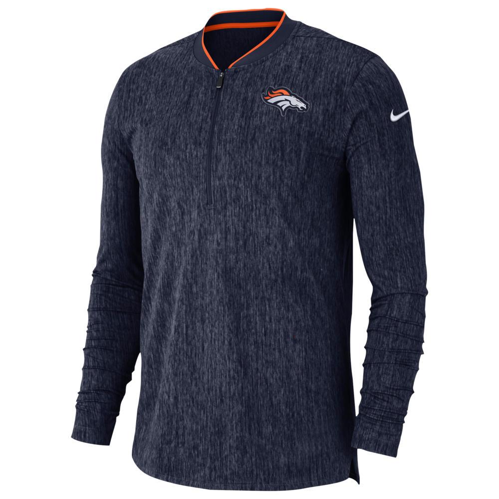ナイキ Nike メンズ トップス【NFL Coaches Sideline 1/2 Zip Top】NFL Denver Broncos College Navy