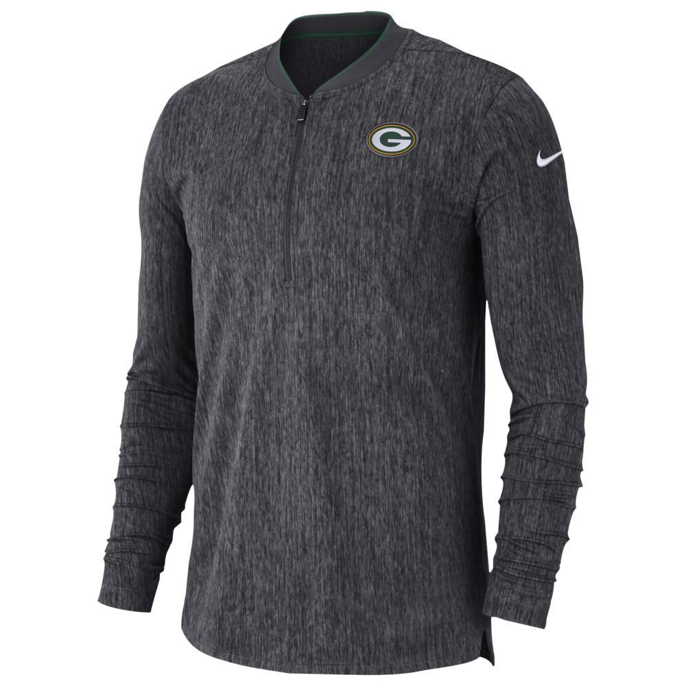 ナイキ Nike メンズ トップス【NFL Coaches Sideline 1/2 Zip Top】NFL Green Bay Packers Anthracite