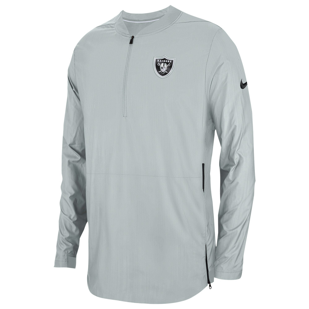 ナイキ Nike メンズ トップス【NFL Lockdown 1/2 Zip Top】NFL Oakland Raiders Field Silver