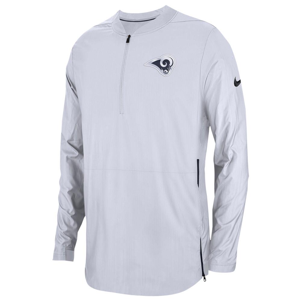 ナイキ Nike メンズ トップス【NFL Lockdown 1/2 Zip Top】NFL Los Angeles Rams White
