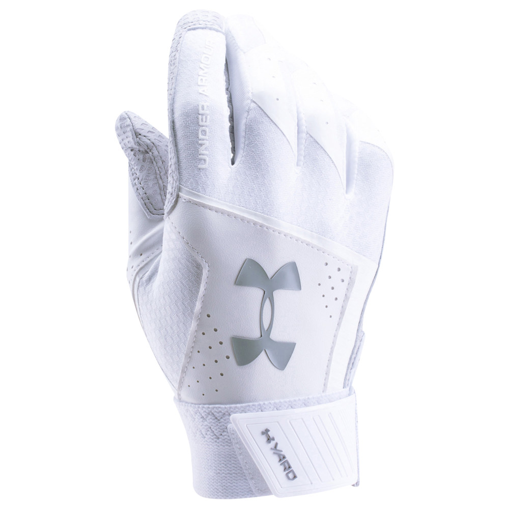 アンダーアーマー Under Armour メンズ 野球 グローブ【Yard Batting Gloves】White/White/Steel