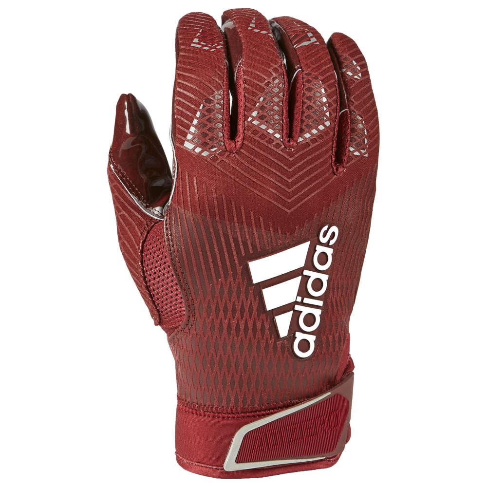 アディダス adidas メンズ アメリカンフットボール グローブ【adiZero 5-Star 8.0 Receiver Glove】Maroon/Metallic Silver