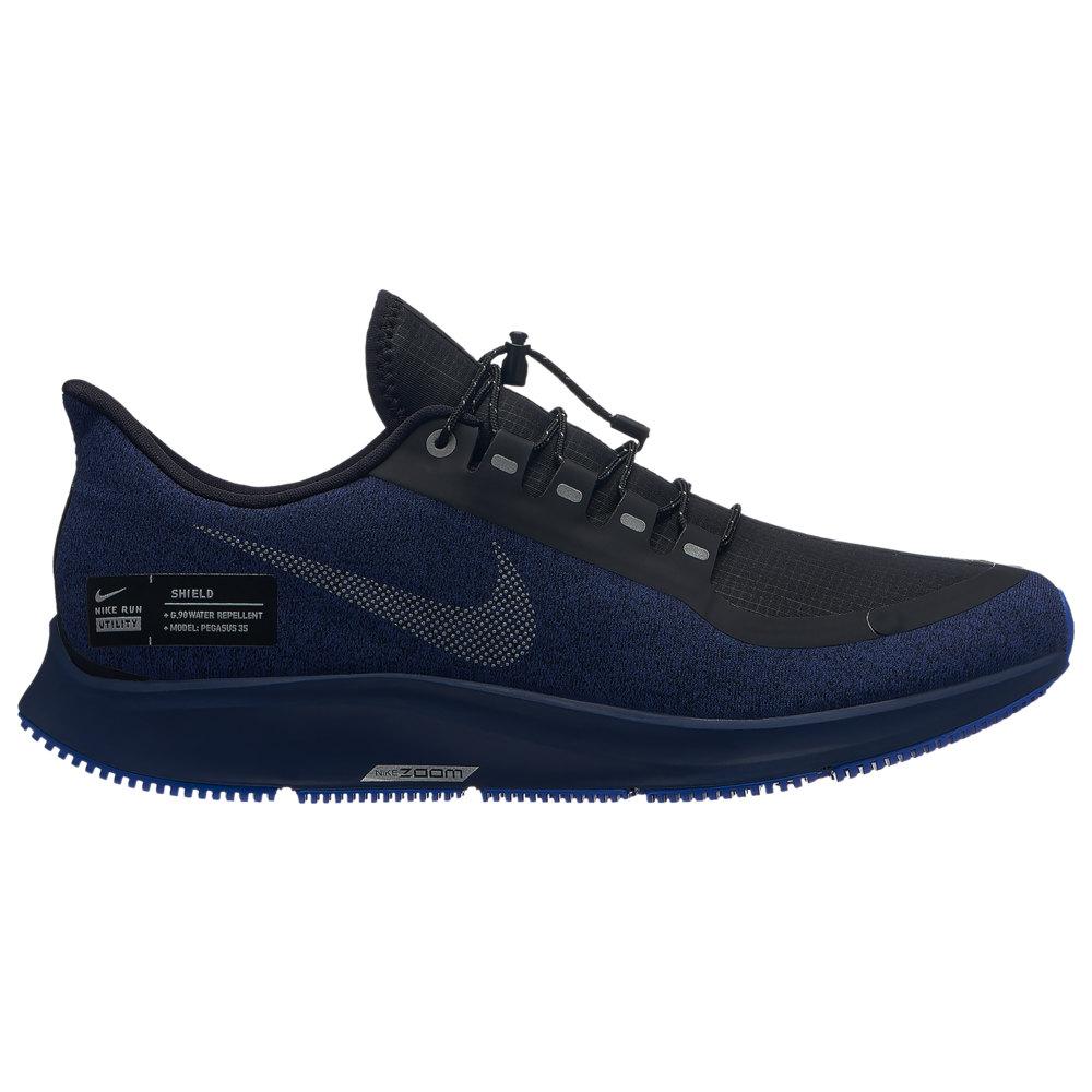 ナイキ Nike メンズ ランニング・ウォーキング シューズ・靴【Air Zoom Pegasus 35 Shield】Black/Metallic Silver/Blue Void/Racer Blue
