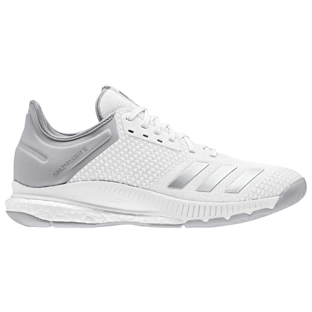 アディダス adidas レディース バレーボール シューズ・靴【Crazyflight X 2】White/Silver Metallic/Grey