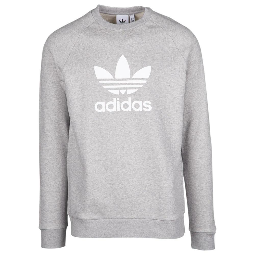 アディダス adidas Originals メンズ トップス【Trefoil Crew】Medium Grey Heather