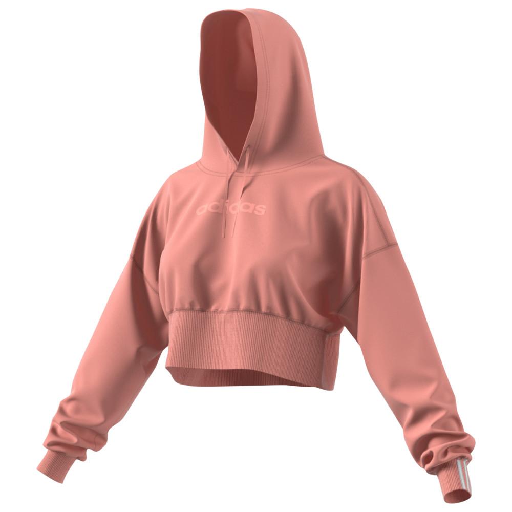 アディダス adidas Originals レディース トップス パーカー【Coeeze Cropped Hoodie】Trace Pink Melange