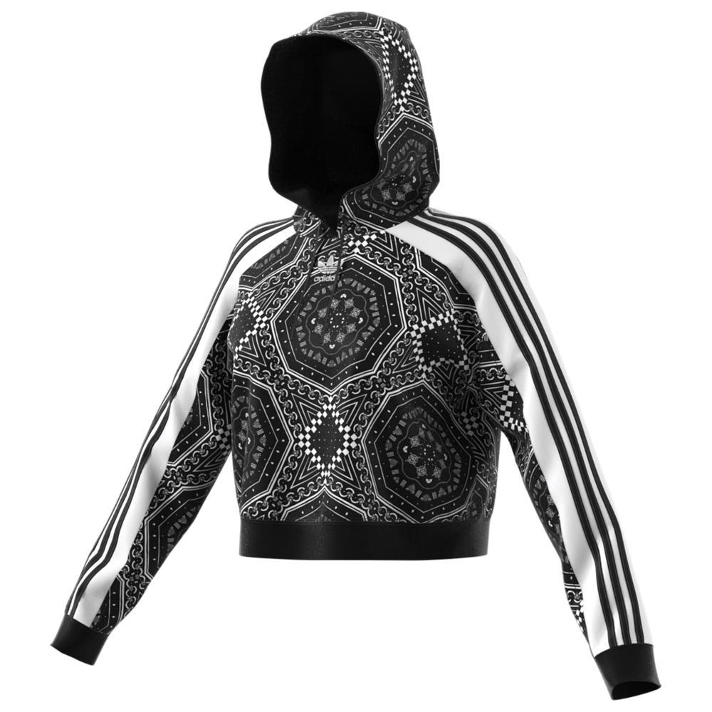 アディダス adidas Originals レディース トップス パーカー【Strict/Clash Cropped Hoodie】Black/White