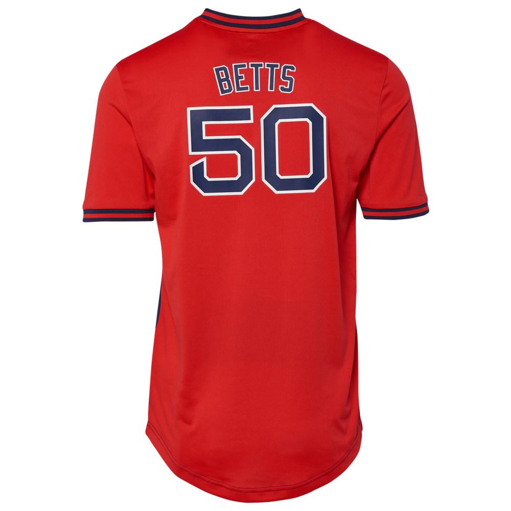 マジェスティック Majestic メンズ トップス【MLB Iconic Name & Number Jersey T-Shirt】MLB Boston Red Sox Mookie Betts Navy/Red