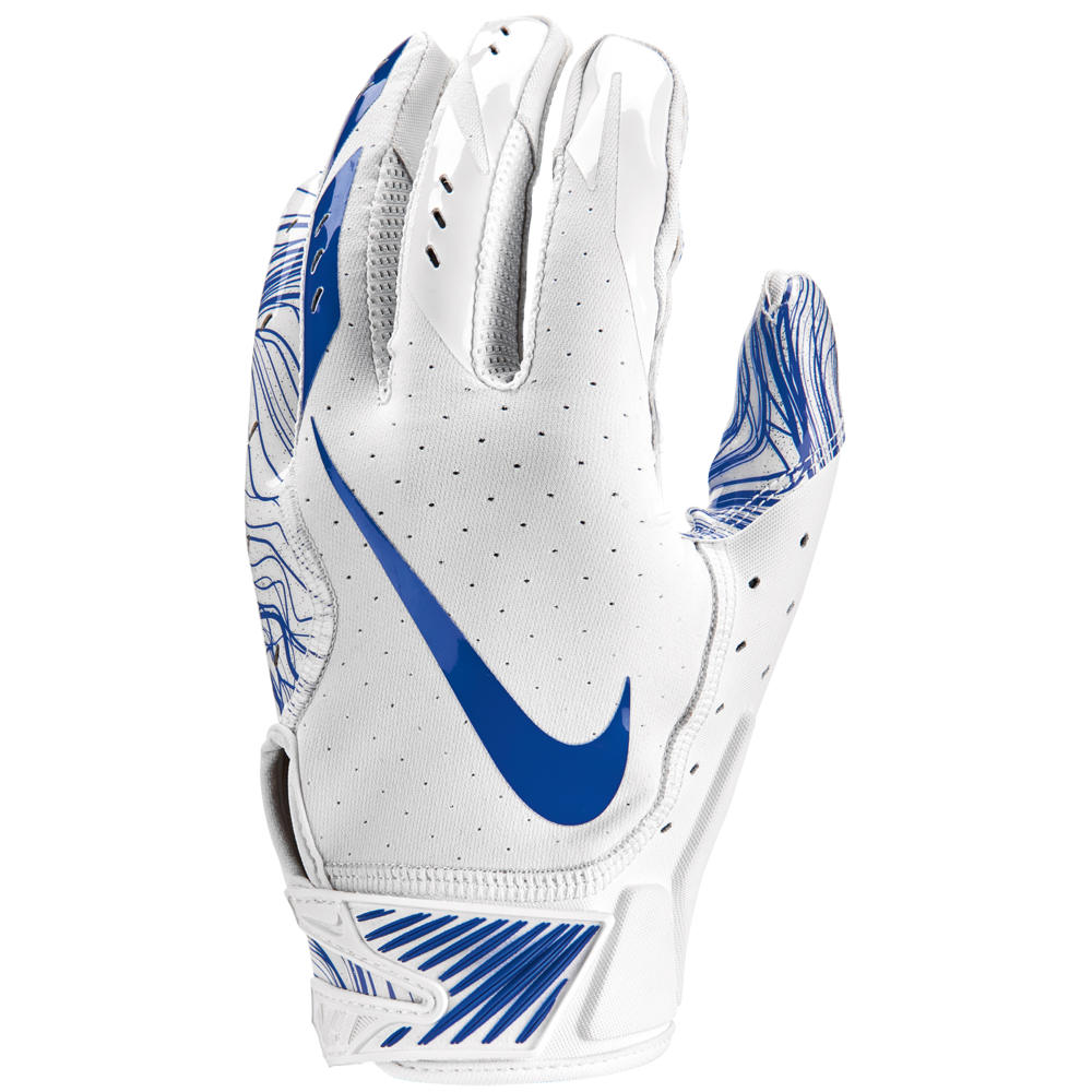 ナイキ Nike メンズ アメリカンフットボール グローブ【Vapor Jet 5.0 Football Gloves】White/White/Game Royal White Pack