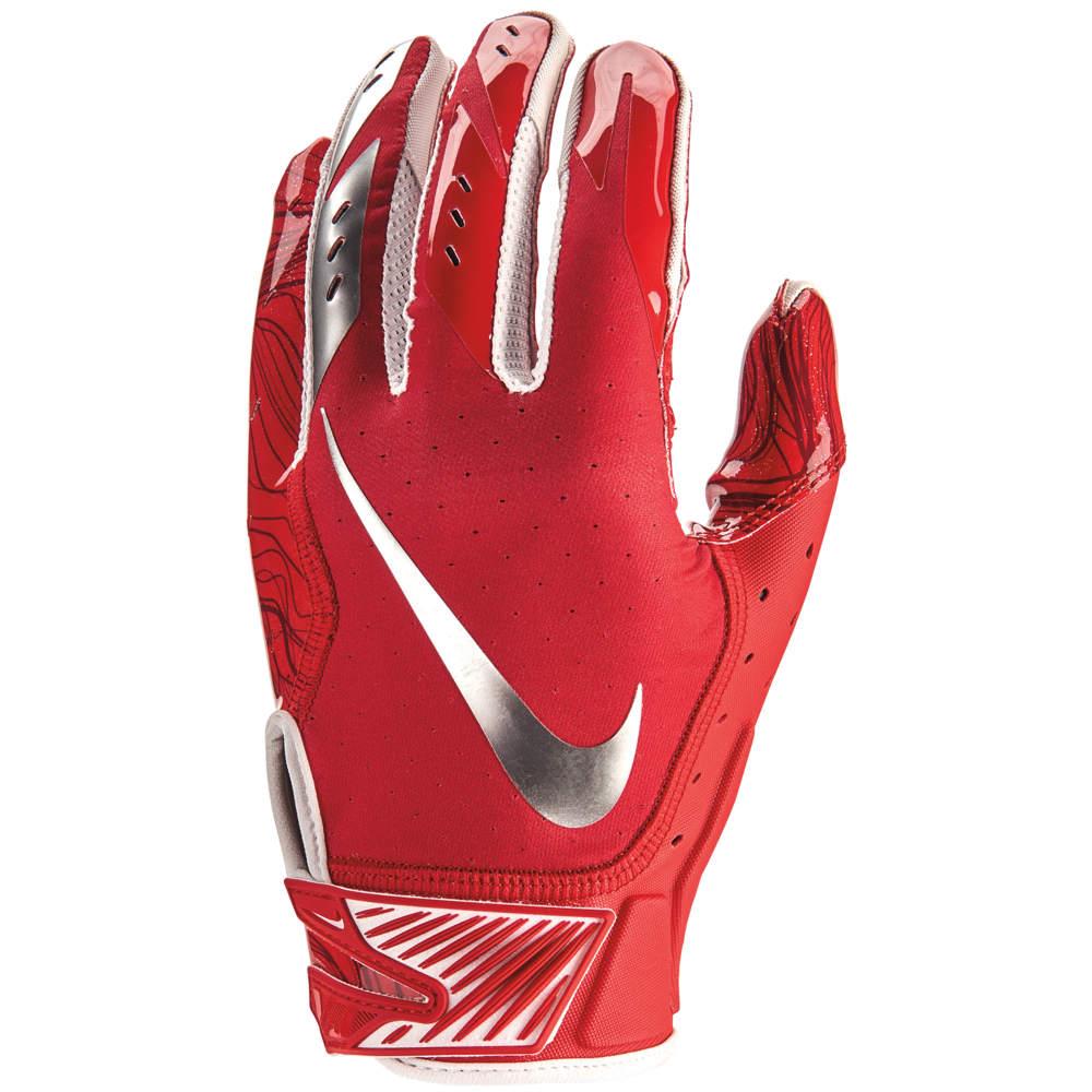 ナイキ Nike メンズ アメリカンフットボール グローブ【Vapor Jet 5.0 Football Gloves】University Red/University Red/Chrome