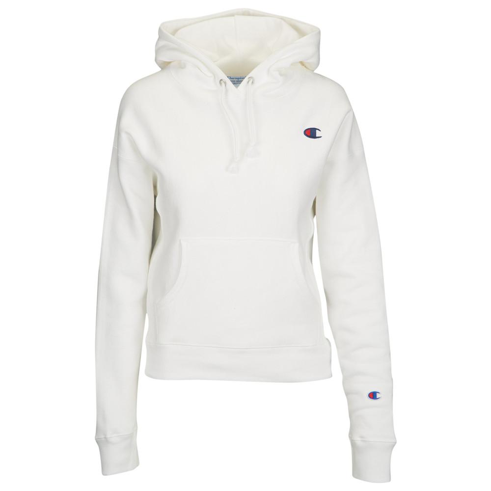 チャンピオン Champion レディース トップス パーカー【Logo Pullover Hoodie】White