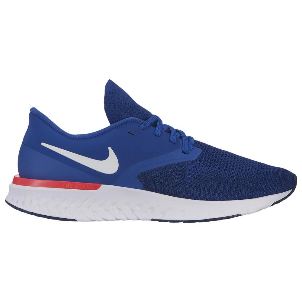 ナイキ Nike メンズ ランニング・ウォーキング シューズ・靴【Odyssey React 2 Flyknit】Indigo Force/White/Blue Void/Red Orbit