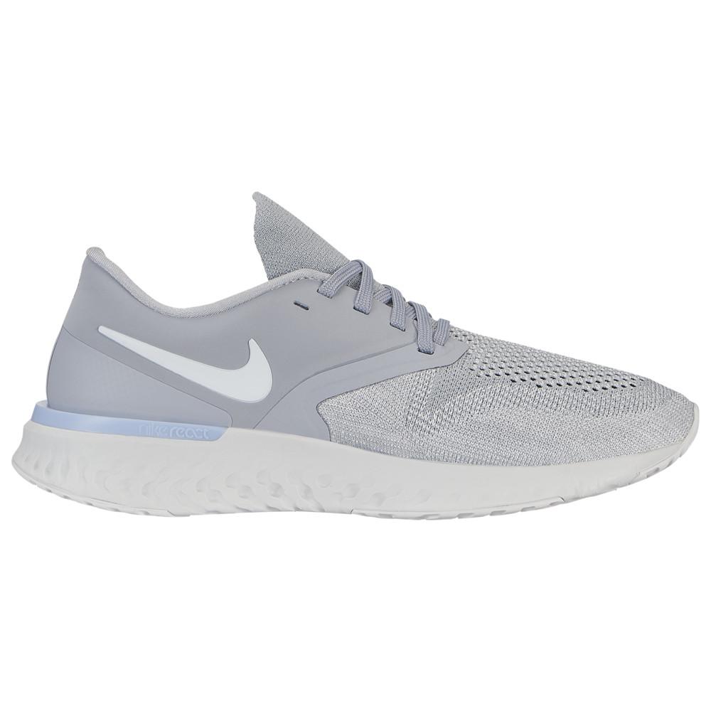 ナイキ Nike レディース ランニング・ウォーキング シューズ・靴【Odyssey React Flyknit 2】Wolf Grey/White/Platinum Tint/Lt Armory Blue