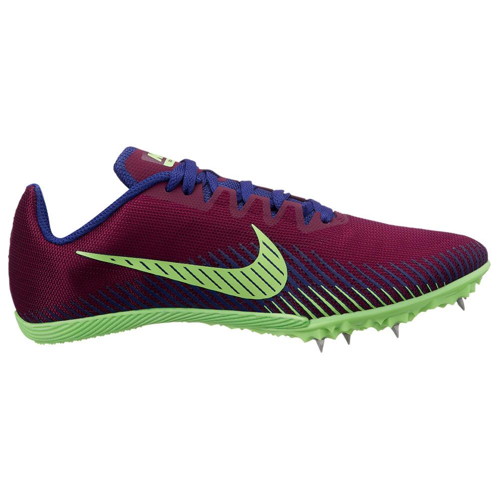 ナイキ Nike レディース 陸上 シューズ・靴【Zoom Rival M 9】Bordeaux/Regency Purple/Lime Blast