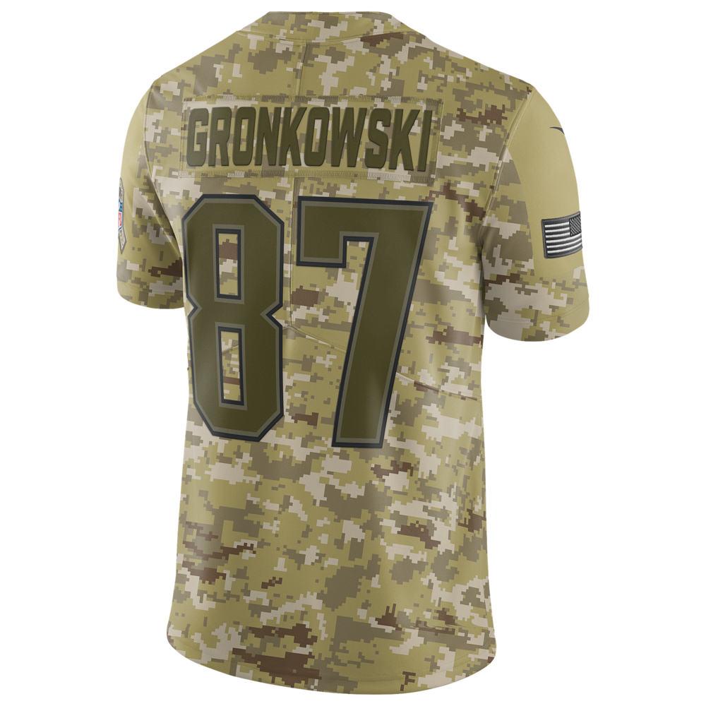 ナイキ Nike メンズ トップス【NFL Salute To Service Limited Jersey】NFL New England Patriots Rob Gronkowski Camper Green