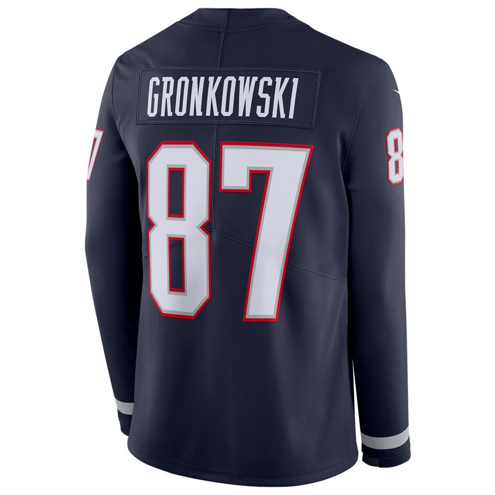 ナイキ Nike メンズ トップス【NFL Therma Jersey】NFL New England Patriots Rob Gronkowski College Navy