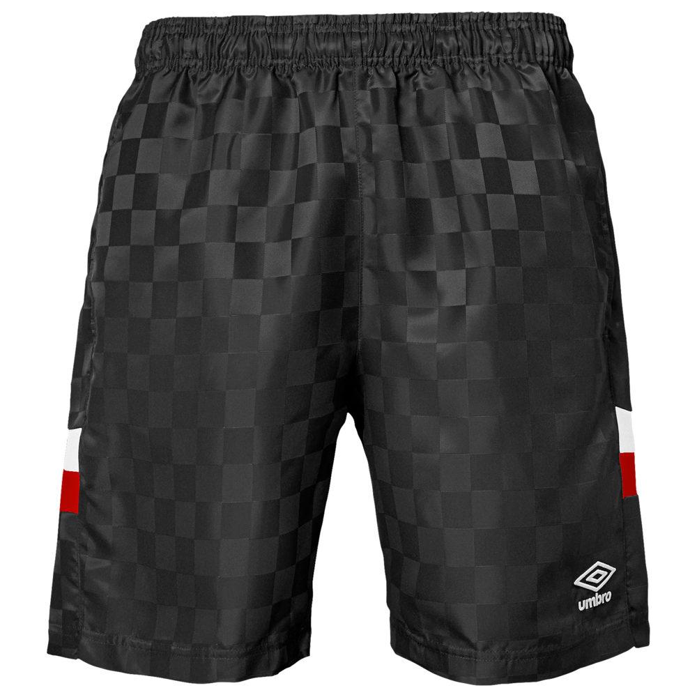 アンブロ Umbro メンズ サッカー ボトムス・パンツ【Tri-Check Shorts】Black Beauty/White