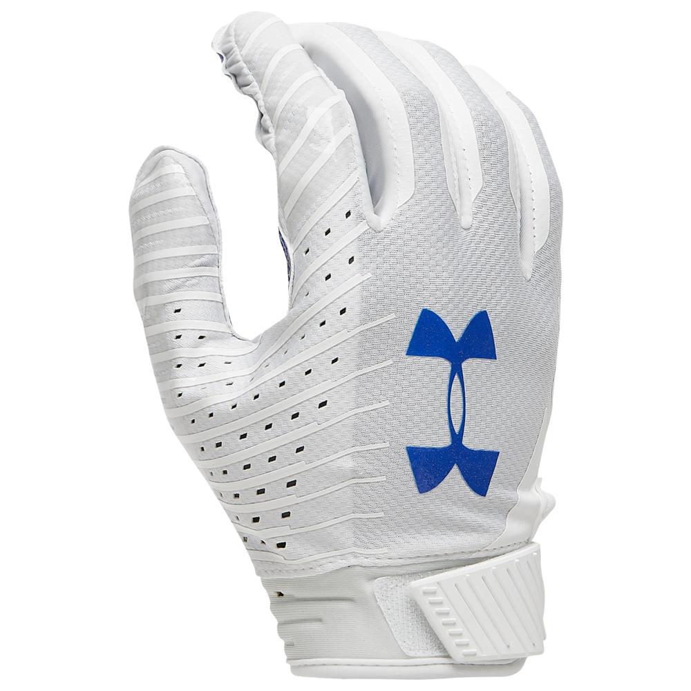 アンダーアーマー Under Armour メンズ アメリカンフットボール グローブ【Spotlight LE NFL Receiver Glove】White/Royal