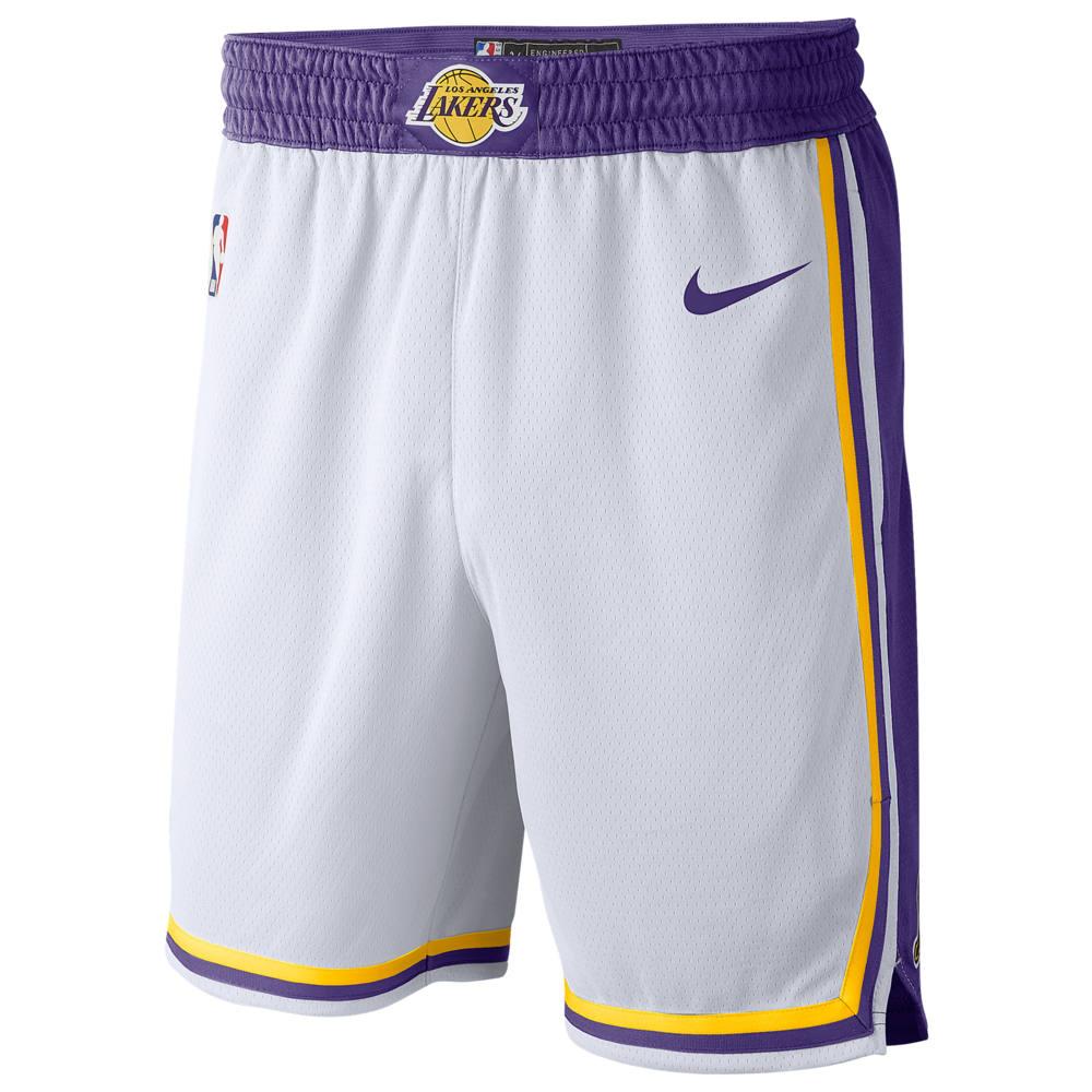 ナイキ Nike メンズ バスケットボール ボトムス・パンツ【NBA Swingman Shorts】NBA Los Angeles Lakers White/Amarillo
