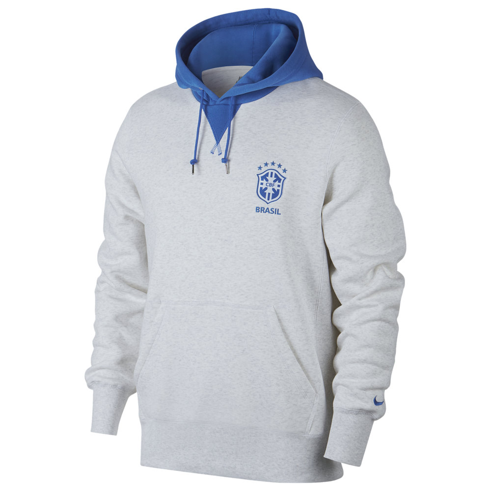 ナイキ Nike メンズ サッカー トップス【Soccer NSW Crest Hoodie】World Soccer Brazil Birch Heather/Signal Blue