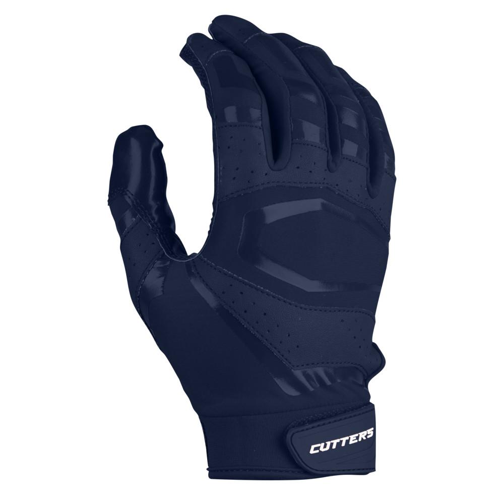カッターズ Cutters メンズ アメリカンフットボール グローブ【Rev Pro 3.0 Solid Receiver Gloves】Navy Exclusive