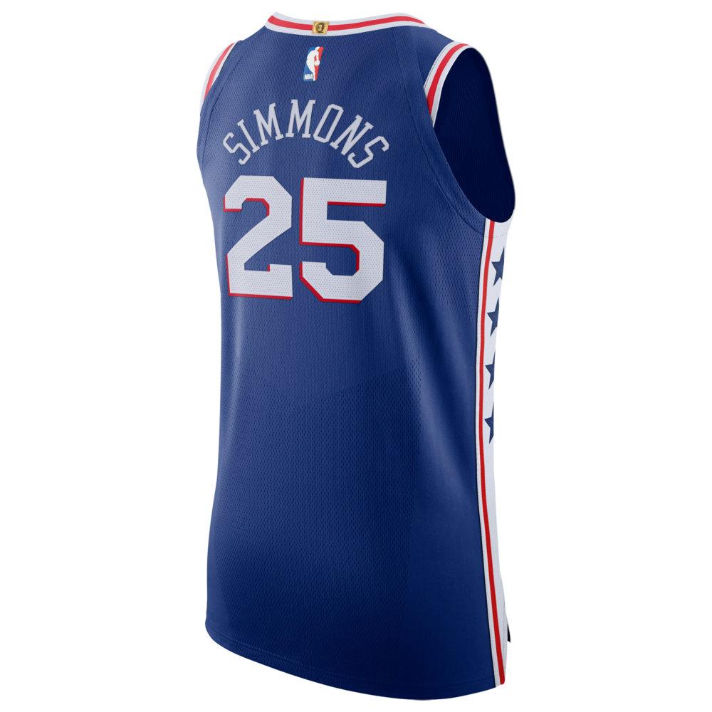 ナイキ Nike メンズ バスケットボール トップス【NBA Authentic Jersey】NBA Philadelphia 76ers Joel Embiid Blue