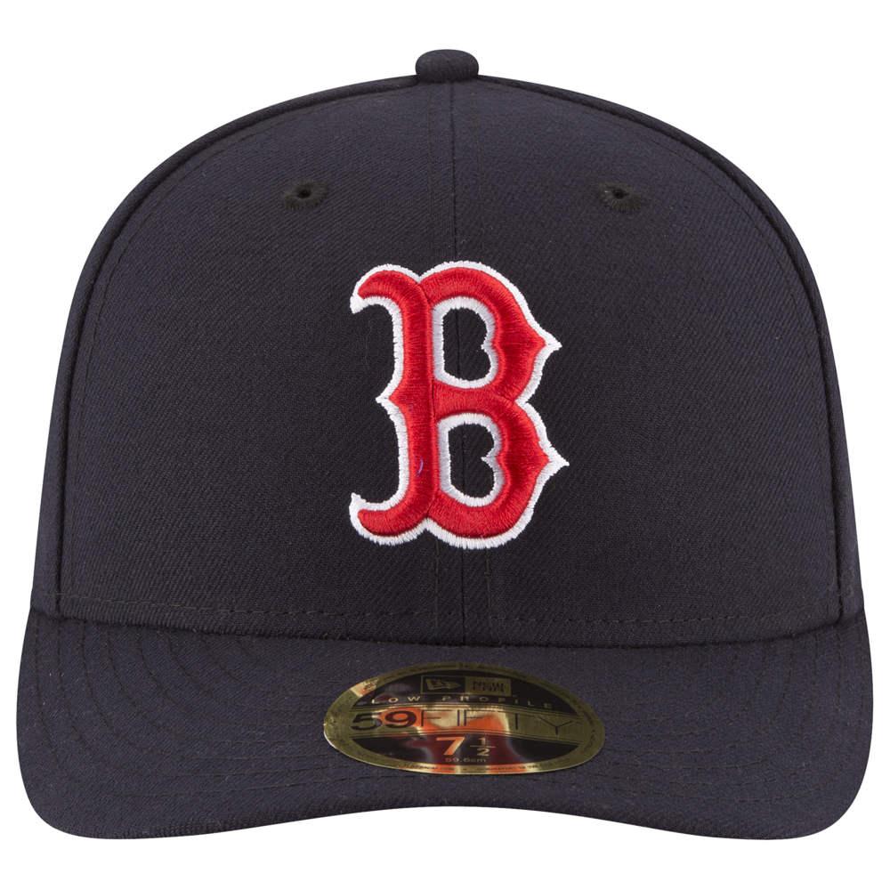 ニューエラ New Era メンズ 帽子 キャップ【MLB 59Fifty Authentic LP Cap】MLB Boston Red Sox Navy/Red Home