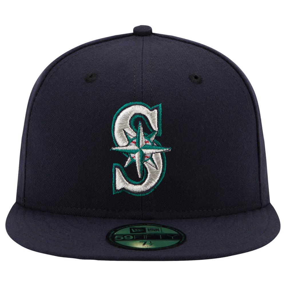 ニューエラ New Era メンズ 帽子 キャップ【MLB 59Fifty Authentic Cap】MLB Seattle Mariners Navy