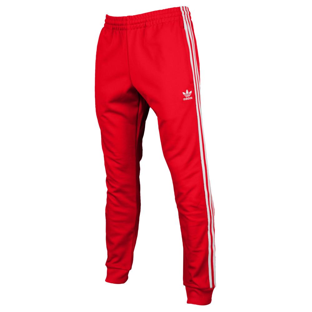 アディダス adidas Originals メンズ ボトムス・パンツ スウェット・ジャージ【Superstar Track Pants】Scarlet