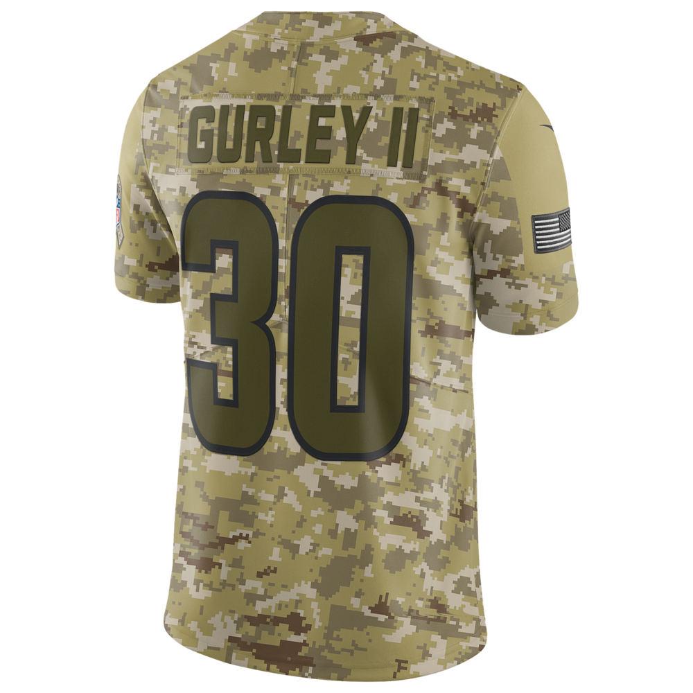 ナイキ Nike メンズ トップス【NFL Salute To Service Limited Jersey】NFL Los Angeles Rams Todd Gurley Camper Green