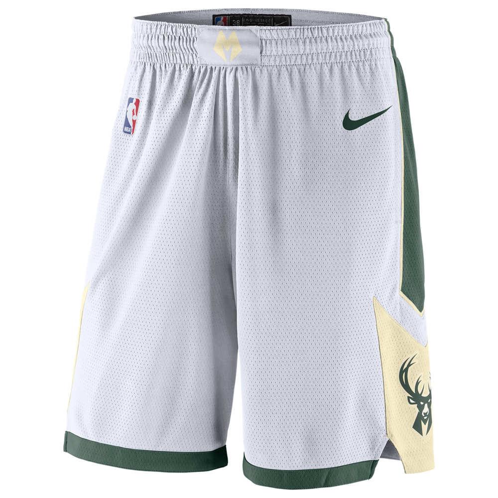 ナイキ Nike メンズ バスケットボール ボトムス・パンツ【NBA Swingman Shorts】NBA Milwaukee Bucks White/Fir