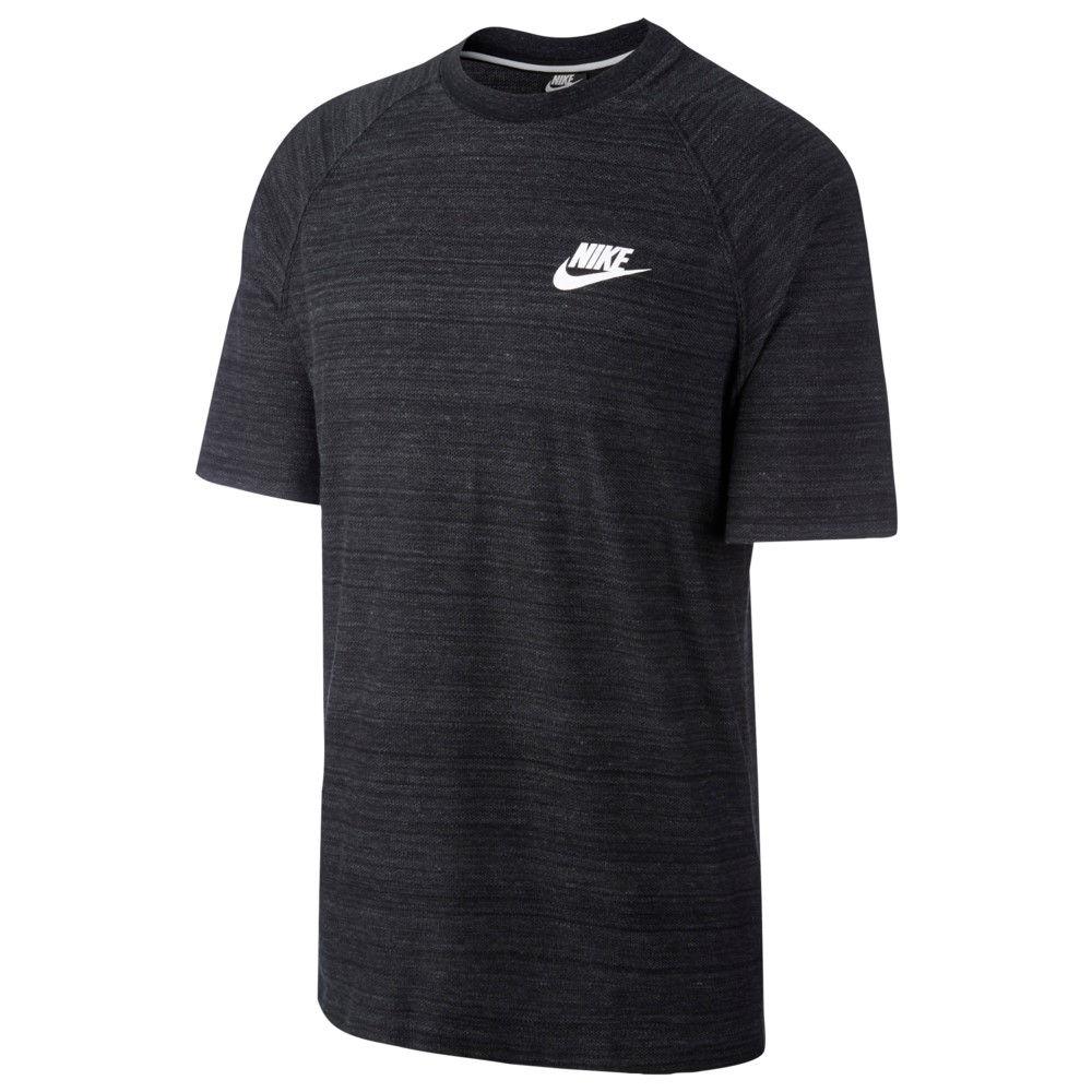 ナイキ Nike メンズ トップス【Advance 15 Knit Short Sleeve Top】Black Heather/White
