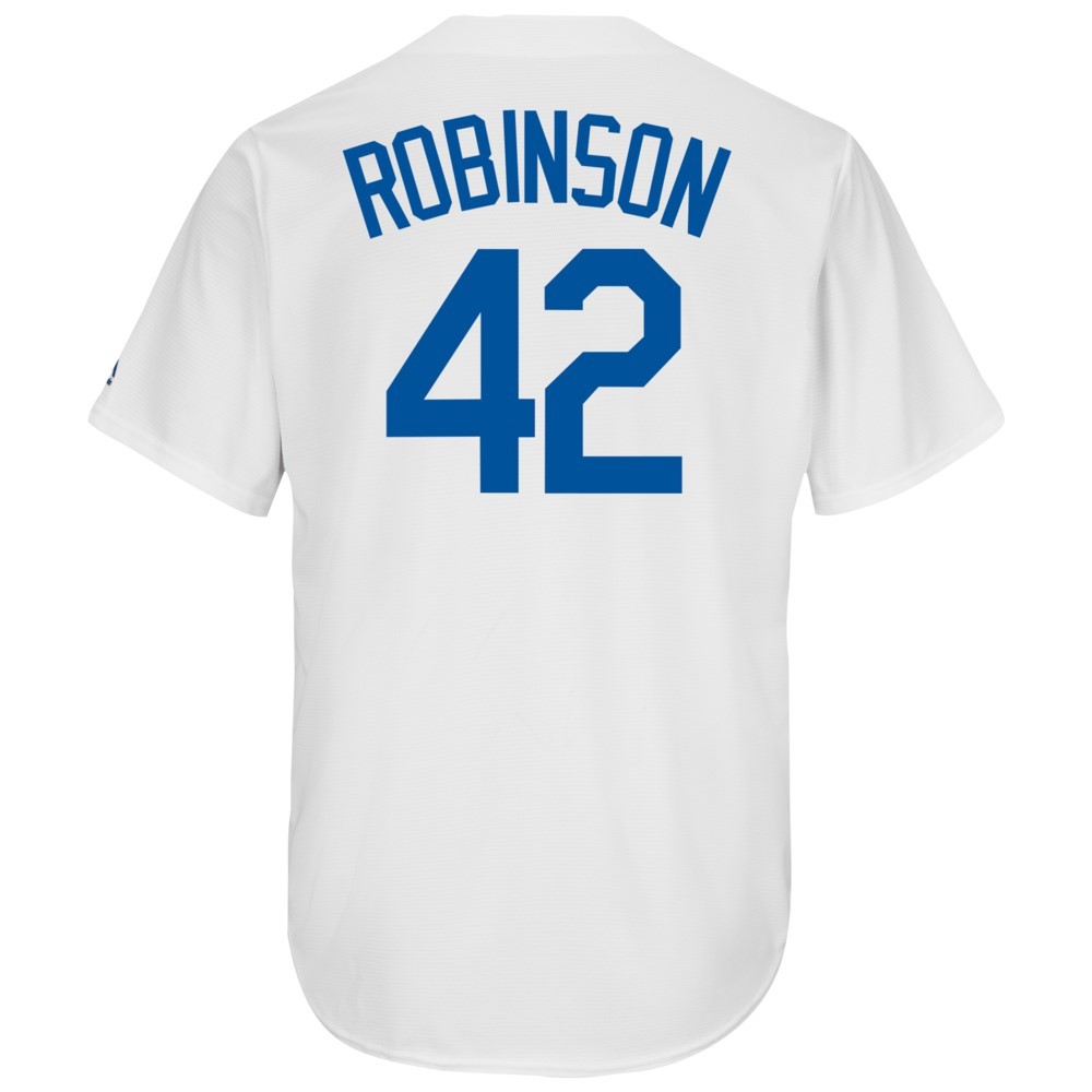 マジェスティック Majestic メンズ トップス【MLB Cool Base Player Jersey】MLB Los Angeles Dodgers Jackie Robinson White Coopertown