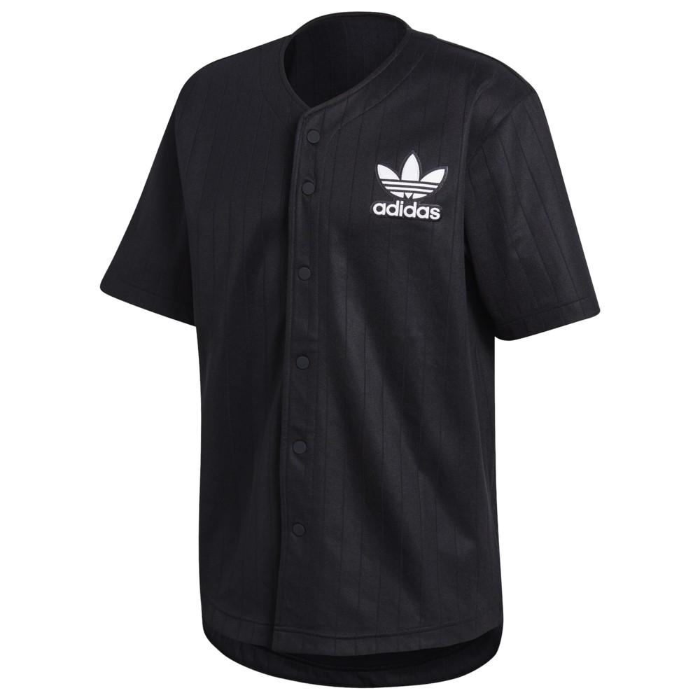 アディダス adidas Originals メンズ トップス【Baseball Jersey】Black/White