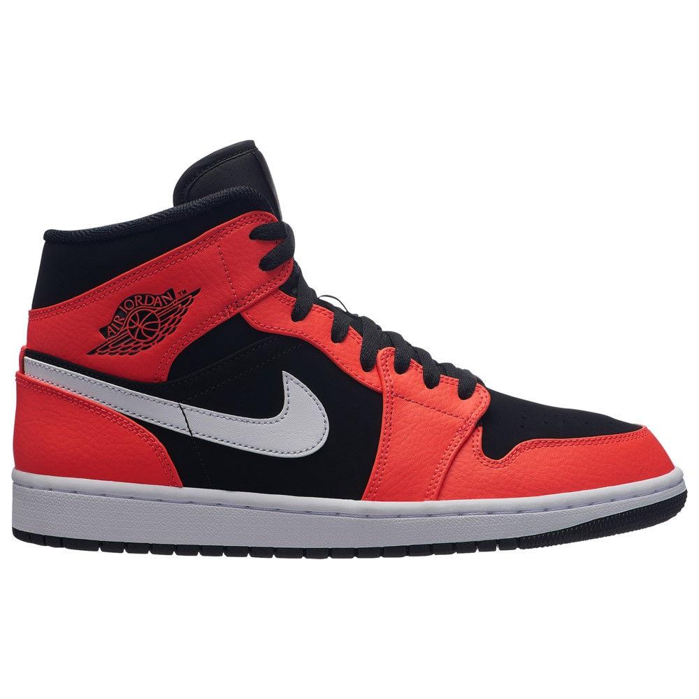 ナイキ ジョーダン 1 Jordan メンズ バスケットボール シューズ・靴【AJ ナイキ 1 ジョーダン Mid】Black/Infrared 23/White, きもの処えりよし:7cd8abcd --- vietwind.com.vn