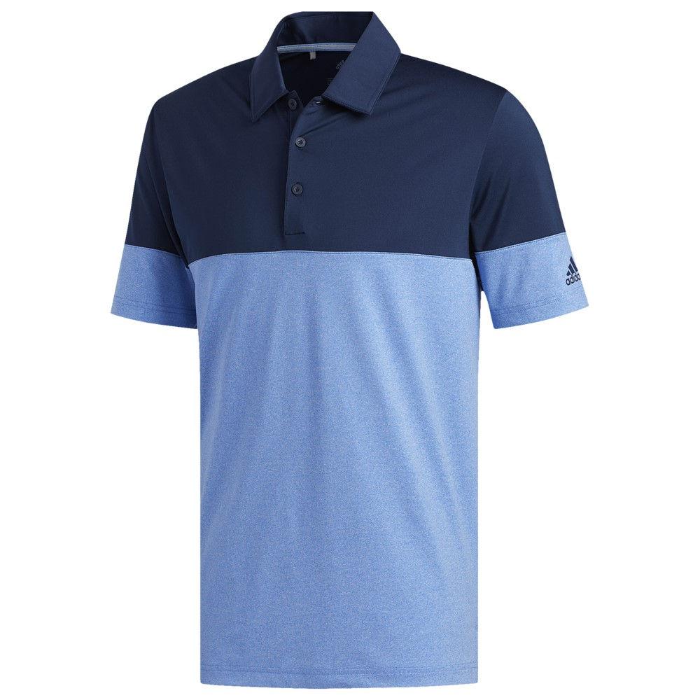 アディダス adidas Golf メンズ ゴルフ トップス【Ultimate Heathered アディダス Blocked Golf トップス【Ultimate Polo】True Blue/Collegiate Navy, マクセルオンライン:35638690 --- acessoverde.com