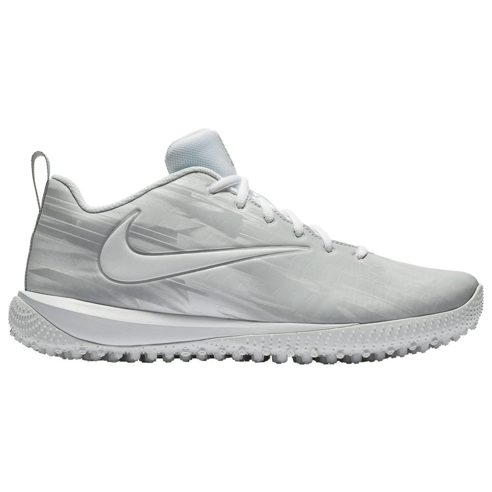 ナイキ Nike メンズ ラクロス シューズ・靴【vapor varsity low turf lax】White/White/Wolf Grey/Wolf Grey