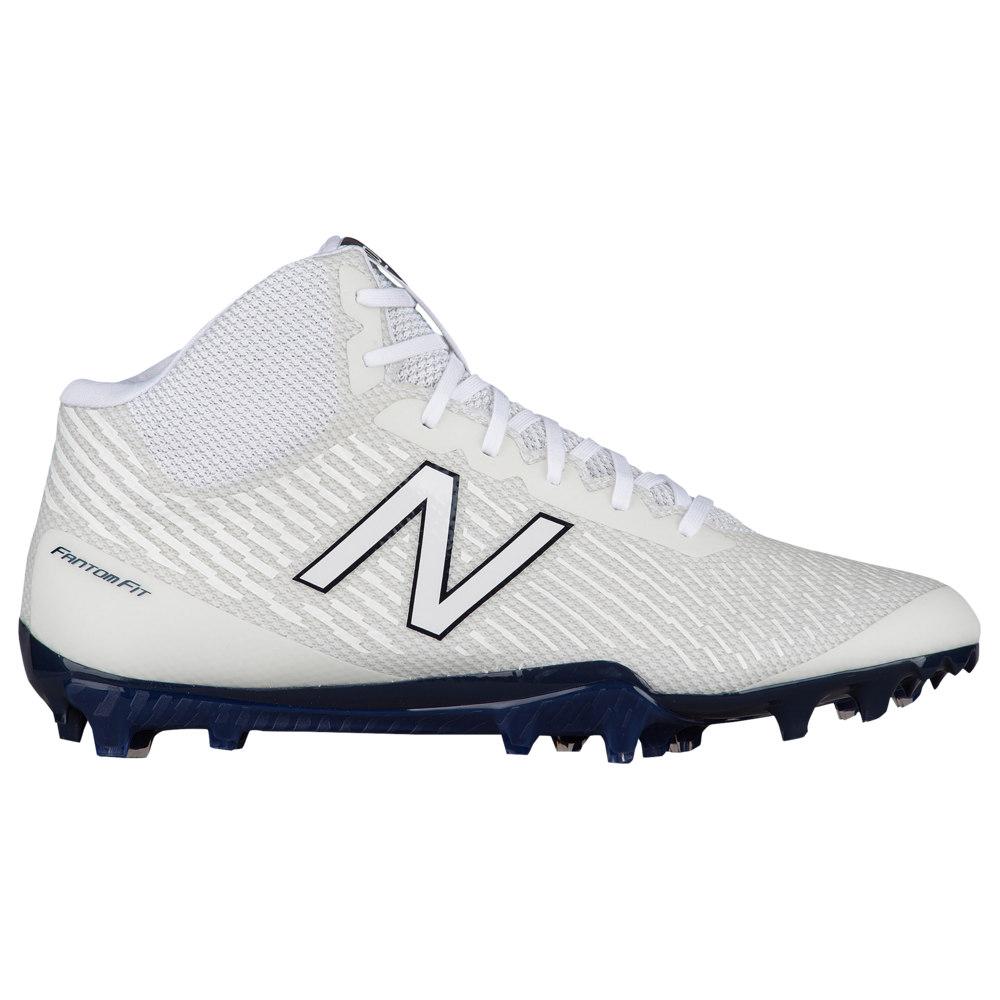ニューバランス New Balance メンズ ラクロス シューズ・靴【burn x mid】White/Blue