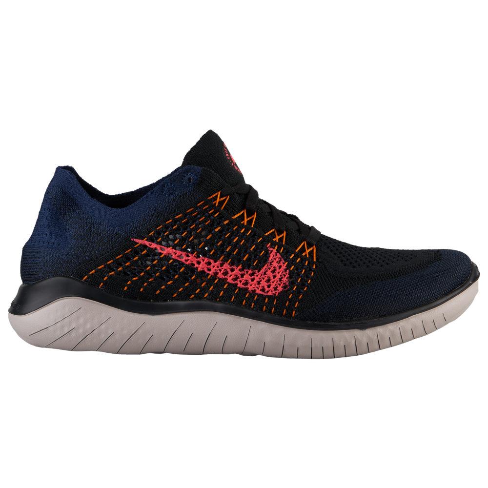 ナイキ Nike メンズ ランニング・ウォーキング シューズ・靴【Free RN Flyknit 2018】Black/Flash Crimson/Orange Peel/College Navy