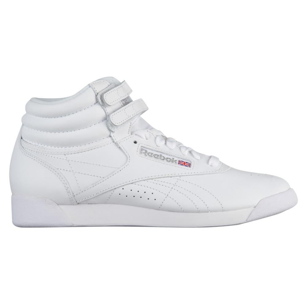 リーボック Reebok レディース フィットネス・トレーニング シューズ・靴【freestyle hi】White/Silver